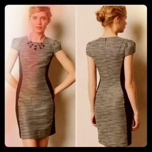 Moulinette Souers Tweed Cap Sleeve Mini Dress